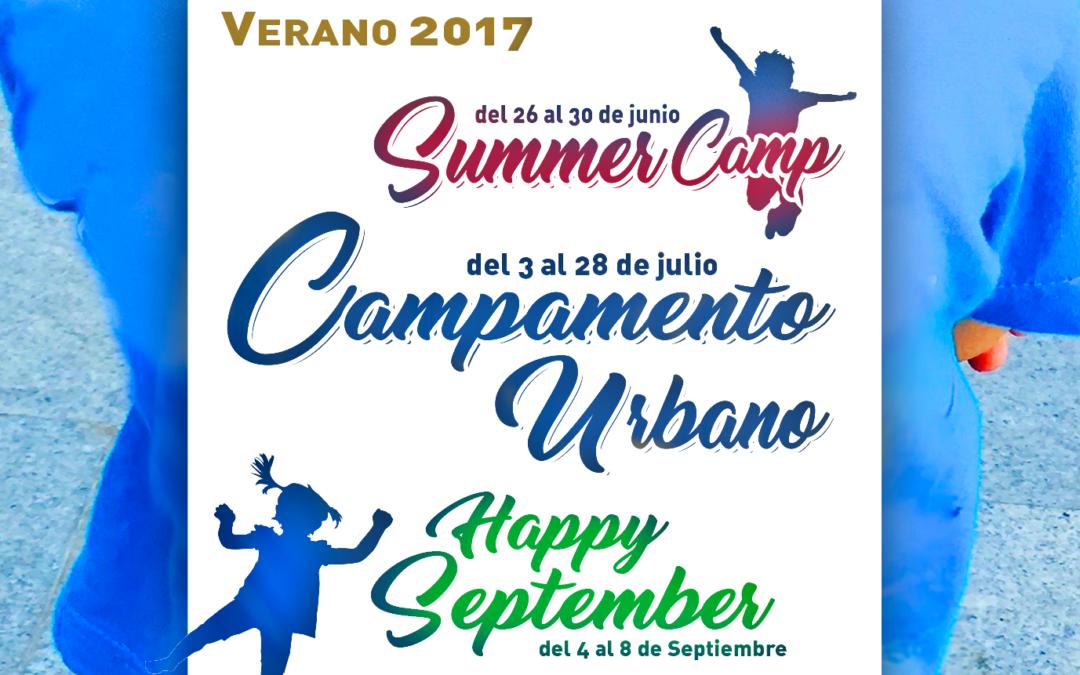 CAMPAMENTOS DE VERANO, 2017